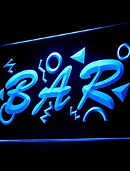 OPEN MINI BAR Advertising LED Light Sign