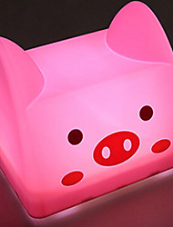 Pig Shaped USB Chargeable Tap Switch LED Table Lamp