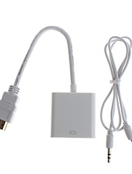 YuanBoTong  HDMI  Male to VGA  Female Adapter with Audio