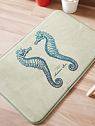 "Bath Mat Modern Memory Foam Sea Horse W16"" x L24""- Multi Colour Available"