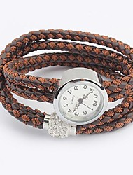 cru bracelet de chanvre montre de corde des femmes