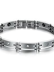 Black Gallstone Fatigue Set Auger Titanium Steel Man Care Bracelet
