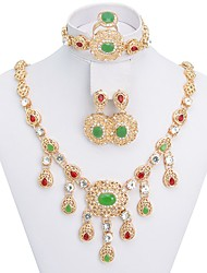 WesternRain Women's Dubai's style vintage-inspired Gold-plated set Jewelry