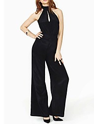 Women's Backless Design And Vintage Style Jumpsuit