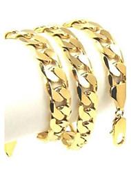 Homens Feminino Colares em Corrente Jóias Ouro Liga Vintage bijuterias Jóias Para Festa