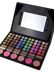 Professional 78 Color Eyeshadow / Blusher/ Lip Gloss Makeup Combined Palette Cosmetic Set 01#
