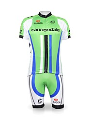 Men's Outdoor Comfortable Breathable  Polyester&Lycra&Elastic Fabric Short Sleeve Cycling Jersey Suit
