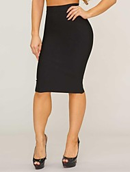 Frauen bodycon knielangen Rock