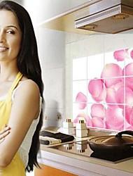 fleurs rose de pétales de rose anti-pétrole stickers muraux