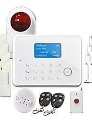 Alarme GS-G190E de sécurité sans fil supporte CID / ADEMCO / CMS (Centre Monitoring Software)