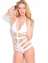 Women's White Bikini Set Bandage Swimwear
