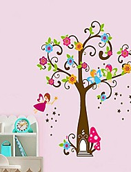 Createforlife ® Cartoon Kleiner Elf Magic Tree Kids Kinderzimmer Wandaufkleber Wandtattoos Kunst