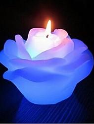 """2.7 """"amant romantique de mariage haut de rosette courtiser changement lumineux couleur bougie"""