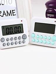 Plastic 1s-99min Kitchen Eletronical Timer Color Random,5.6x4.1x3cm
