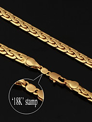 u7® 18k vendimia de oro lleno grueso collar de cadena figaro de alta calidad para los hombres 6mm 22inches 55cm
