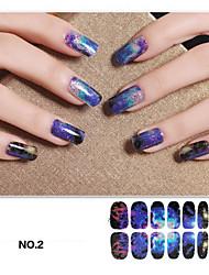 5PCS Milky Way Galaxy Design Nail Art Stickers Harajuku Style