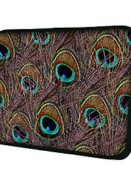 Elonno Peacock Feather Neoprene Laptop Sleeve Case Bag Pouch Cover for 10'' Samsung Dell HP iPad1/2/3/4/5