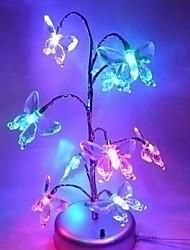 coway Noël lumières de l'arbre de rêve brillant papillon mini-arbre mené la lumière de nuit