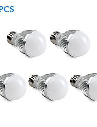 5W E26/E27 Ampoules Globe LED A50 15 SMD 5630 360 lm Blanc Naturel AC 100-240 V 5 pièces