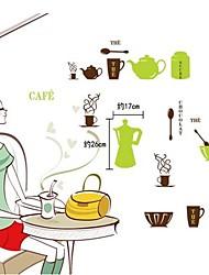 Vaisselle design moderne en plastique mignon Stickers muraux (1pcs)