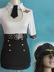 Аэропорт Сексуальная TSA безопасности агента полоски Поиск Женская Хеллоуин костюм