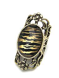 MISS U Frauen Gold Sexy Leopard-Druck Vintage Freis Ring