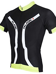 PALADIN Cycling Tops / Jerseys Men's Bike Breathable / Ultraviolet Resistant / Quick Dry Short Sleeve Polyester / TeryleneWhite / Black /