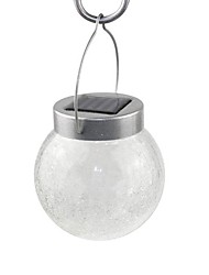 Color Changing Hanging Cracked Glass Ball Outdoor Garden Solar Light with 2 LED