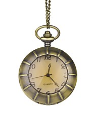 Novio de bronce clásico reloj de bolsillo simple con la caja de regalo