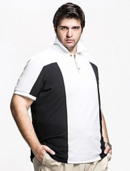 Men's ™H-United Two-colored Patchwork With Big Size Cotton  Polo Shirt
