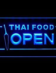 Thai Food Aperto Pubblicità Light LED Sign