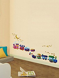 Createforlife® Cartoon Train Kids Nursery Room Wall Sticker Wall Art Decals