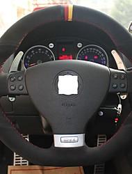 Xuji ™ Black Suede Farbe drei Mark Lenkradbezug für Volkswagen Golf 5 GTI Mk5 VW Golf 5 R32