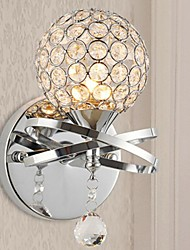 Crystal/Bulb Included Wall Sconces , Modern/Contemporary E12/E14 Metal