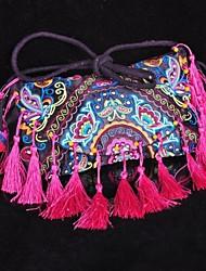 Novo Chinês estilo étnico da Mulher Handmade bordados Bolsas de Ombro Lazer Crossboby Bolsas Mensageiro