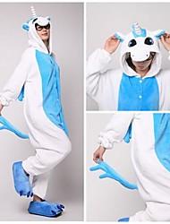 Mignon Licorne bleue adulte Coral Fleece Kigurumi Pyjamas animaux de nuit