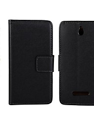 Affaire Full Body en cuir PU avec support et fente pour carte pour Sony Xperia E double C1605 (couleurs assorties)