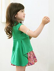 Girl's Cotton Dress , Summer Short Sleeve