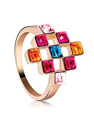 Seven Colour Crystal  Ring   By Austrian Crystal Elements