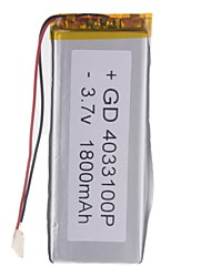 3.7V 1800mAh Lithium Polymer Battery for Cellphones  MP3  MP4 (4*33*100)