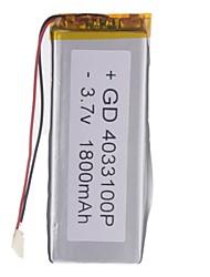 3.7V 1800mAh Lithium Polymer Batterie pour les téléphones portables MP3 MP4 (4 * 33 * 100)