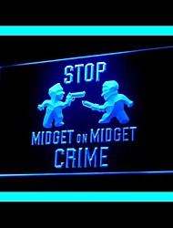 Parar Midget Crime Publicidade LED Sign