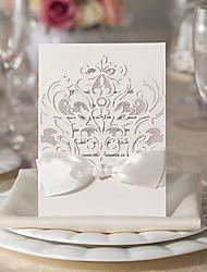flore conception blanche invitation de mariage ensemble de 20/10/50
