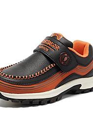 ursinho ® novo padrão do menino os sapatos casuais superfície de couro