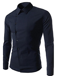 Men's Slim Casual Pure Long Sleeved Shirt