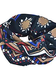 BOODUN Stripe Design Thickened Warm Winter Multi-Functional Polyester Spandex Cashmere Scarf Headband