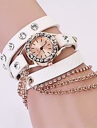 Women Watch Bohemian Rhinestone Chain Leather Strap Cool Watches Unique Watches