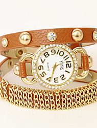 wagen u Patent voluble Leder verstellbarer Uhr