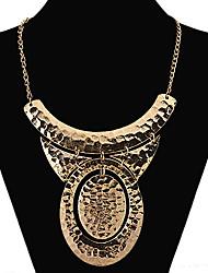 HuaijieD Женская Элегантный овальный Психическое Старый золотое ожерелье