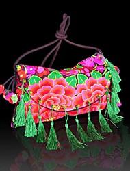Das mulheres novas do estilo chinês étnico Handmade bordados Bolsas de Ombro Lazer Crossboby Messenger Bag